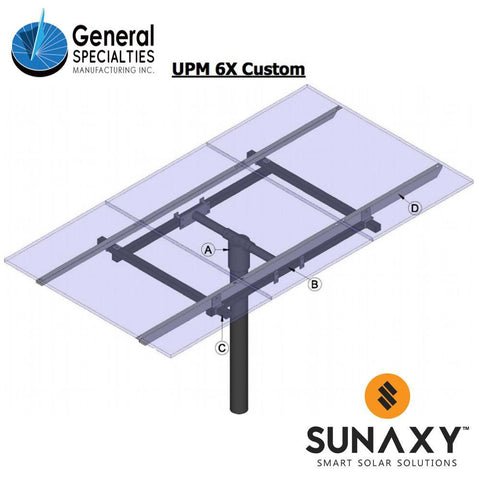 General Specialties UPM 6X Custom Pole Mount (for Panel Sizes: C)