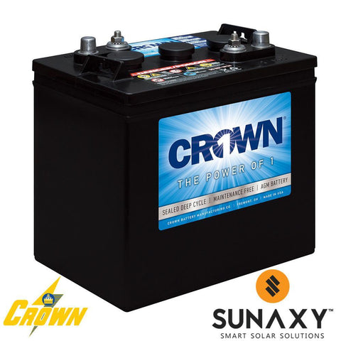 Crown 6CRV220, 220Ah 6V Battery