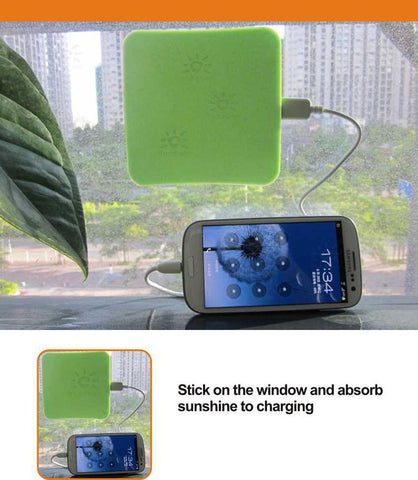 Solar mobile phone charger - Window solar charger - Secure solar power bank