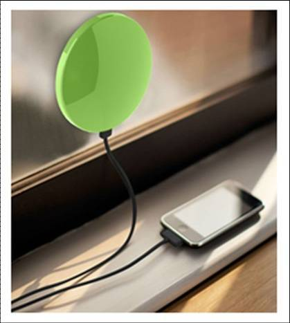Solar mobile charger / window solar charger - 1800mAh