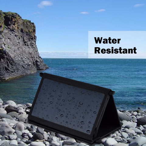 25W Portable Solar Panel Charger / Folding / Waterproof / Power Bank for Phone Battery Charge