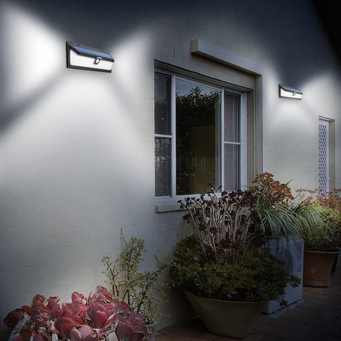 54 LED Night Lighting - Wide Angle Light with 3 Security Motion Sensor Modes - Waterproof - Emergency Path Solar Light