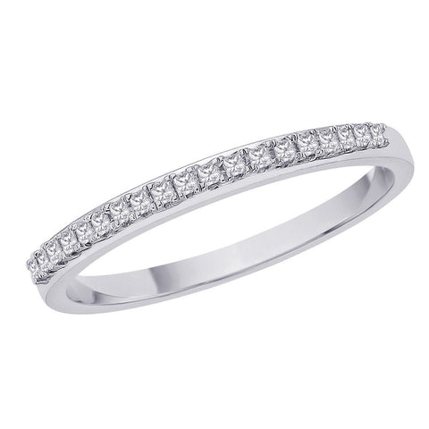 Katarina.com - Princess Cut Diamond Band in Sterling Silver