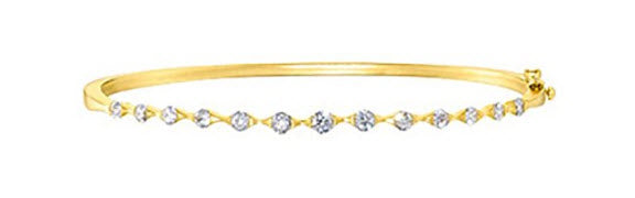 14K YELLOW GOLD 1 CT. DIAMOND BANGLE BRACELET