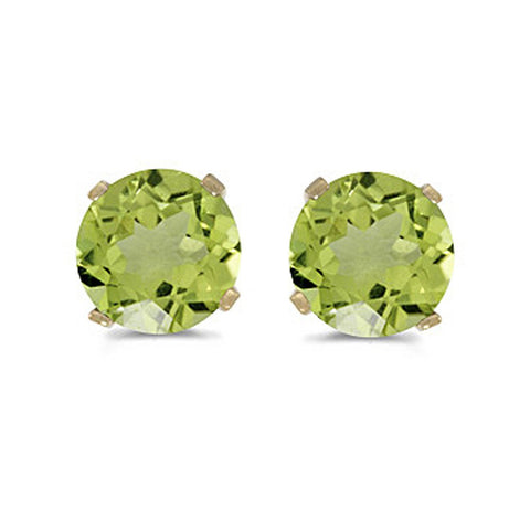 Katarina.com - NATURAL 5 MM PERIDOT EARRING STUDS