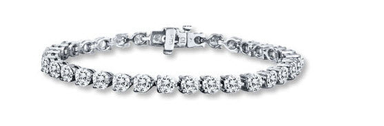 Diamond Bracelet 11 ct tw Round-cut 14K White Gold- From Jared.com