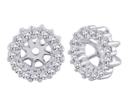 Katarina.com- DIAMOND EARRING JACKETS IN 10K WHITE GOLD (1/4 CTTW)