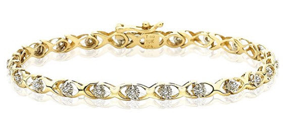 Yellow Gold Tiffany Diamond Bracelet