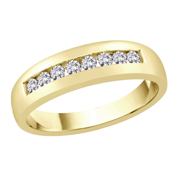 14K Yellow Gold 1/2 ct. Diamond Men's Wedding Band