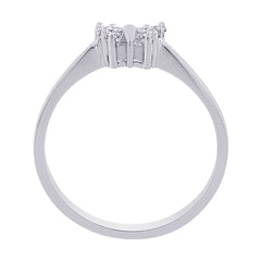 10K White Gold 1/6 ct. Diamond Butterfly Ring