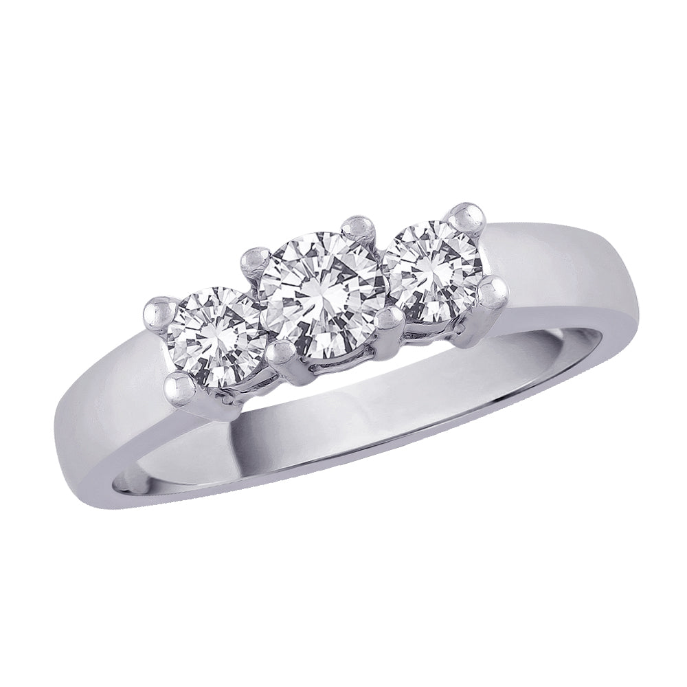 3 Diamond Anniversary Band 1 1/2 ct. in 14K White Gold (Best, G-H Color, SI2-I1 Clarity)