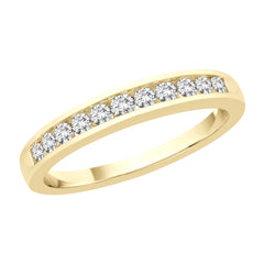 Basic Channel Set Diamond Ring in 14K Yellow Gold (1 cttw)