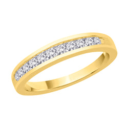 14K Yellow Gold 1/3 ct. Diamond Wedding Band