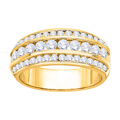 14K Yellow Gold 1 ct. Diamond Fashion Ring