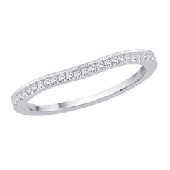 Diamond Bridal Wedding Band in 14K White Gold (1/8 cttw, G-H Color, SI2-I1 Clarity)