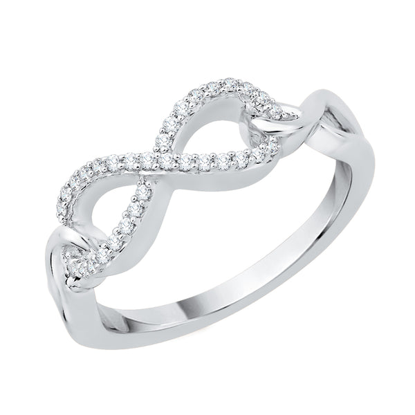 Infinity Diamond Ring in Sterling Silver (1/8 cttw)