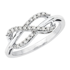 Infinity Diamond Ring in Sterling Silver (1/6 cttw)