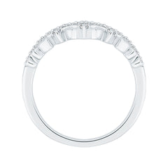 Diamond Crown Ring in 10K White Gold (1/10 cttw)