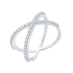 Diamond Fashion Ring in 10K White Gold (3/8 cttw)