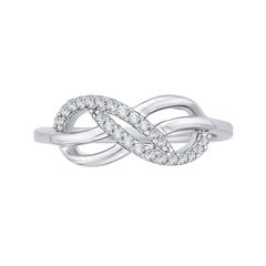 Infinity Diamond Ring in Sterling Silver (1/5 cttw)