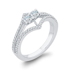 Diamond Fashion Ring in 14K White Gold (5/8 cttw)