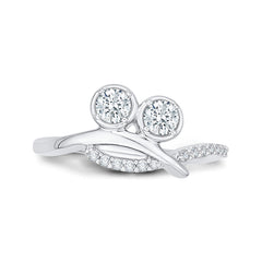 Diamond Fashion Ring in 14K White Gold (1/2 cttw)