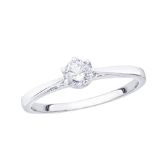 Diamond Engagement Ring in Sterling Silver ( 1/4 cttw)