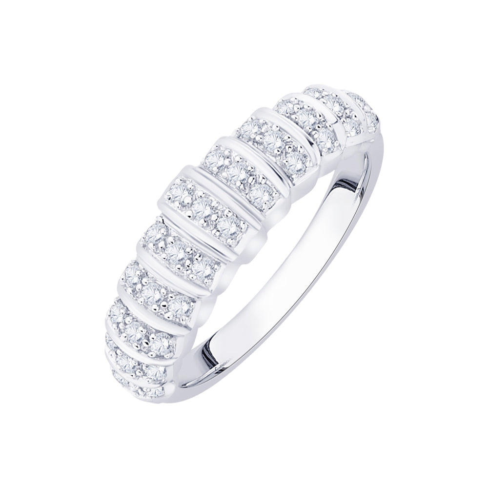 Diamond Wedding Band in Sterling Silver  (1/3 cttw)