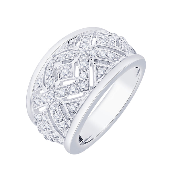 Diamond Anniversary Ring in Sterling Silver  (1/2 cttw)