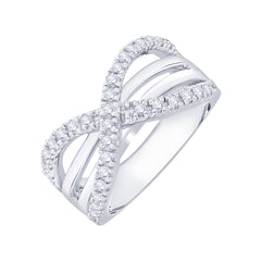 Diamond Fashion Ring in Sterling Silver  (1/2 cttw)