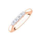 Five Diamond Anniversary Ring in Gold (3/4 cttw, I-J, I1-I2)