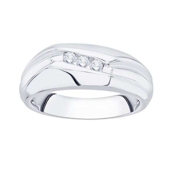 Diamond Engagement Ring in Sterling Silver (1/6 cttw)