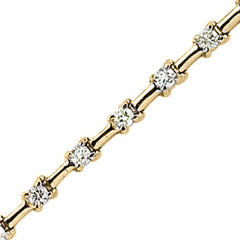 14K Yellow/White Gold 1 ct. Diamond Tennis Bracelet