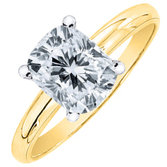 0.92 ct. G - SI1 Cushion Cut Diamond Solitaire Engagement Ring (White or Yellow Gold)