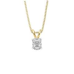 GIA Certified 1.01 ct. H - VS2 Cushion Cut Diamond Solitaire Pendant with Chain in 14K Gold