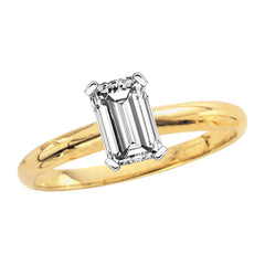 1.02 ct. H - VS2 Emerald Cut Diamond Solitaire Engagement Ring in 14K Gold