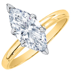 0.56 ct. E - SI2,I1 Marquise Cut Diamond Solitaire Engagement Ring (White or Yellow Gold)
