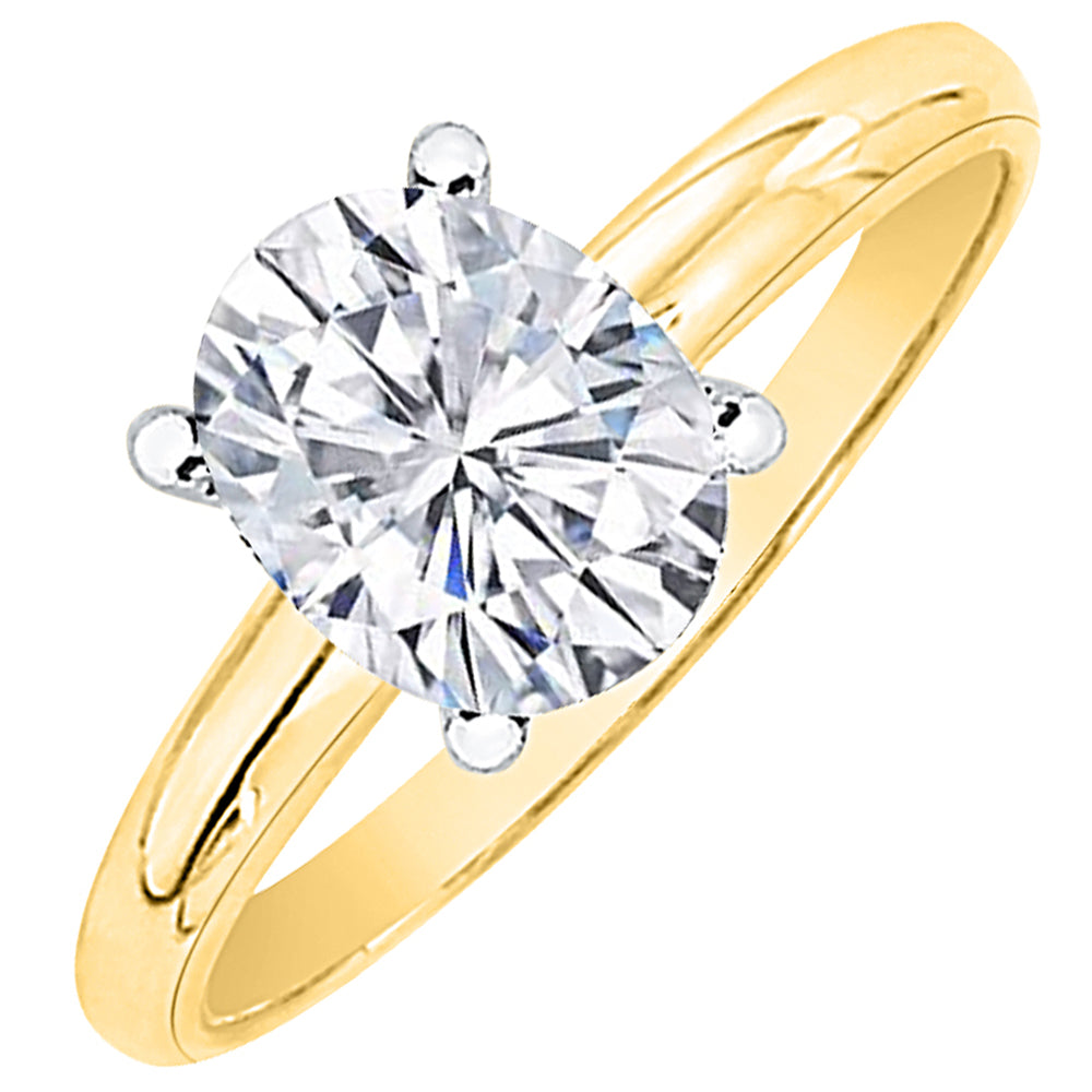 solitaire cut engagement jewelry diamond oval rings trend