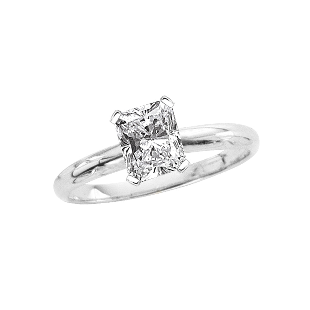 1.01 ct. I - SI1 Radiant Cut Diamond Solitaire Engagement Ring in 14K Gold