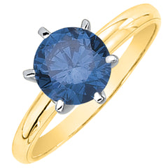 0.88 ct. Blue - SI2,I1 Round Brilliant Cut Diamond Solitaire Engagement Ring (White or Yellow Gold)