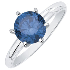 1 ct. Blue - SI2-I1 Round Brilliant Cut Diamond Solitaire Engagement Ring in 14K Gold
