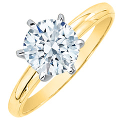 1.05 ct. G - SI2 Round Brilliant Cut Diamond Solitaire Engagement Ring (White or Yellow Gold)
