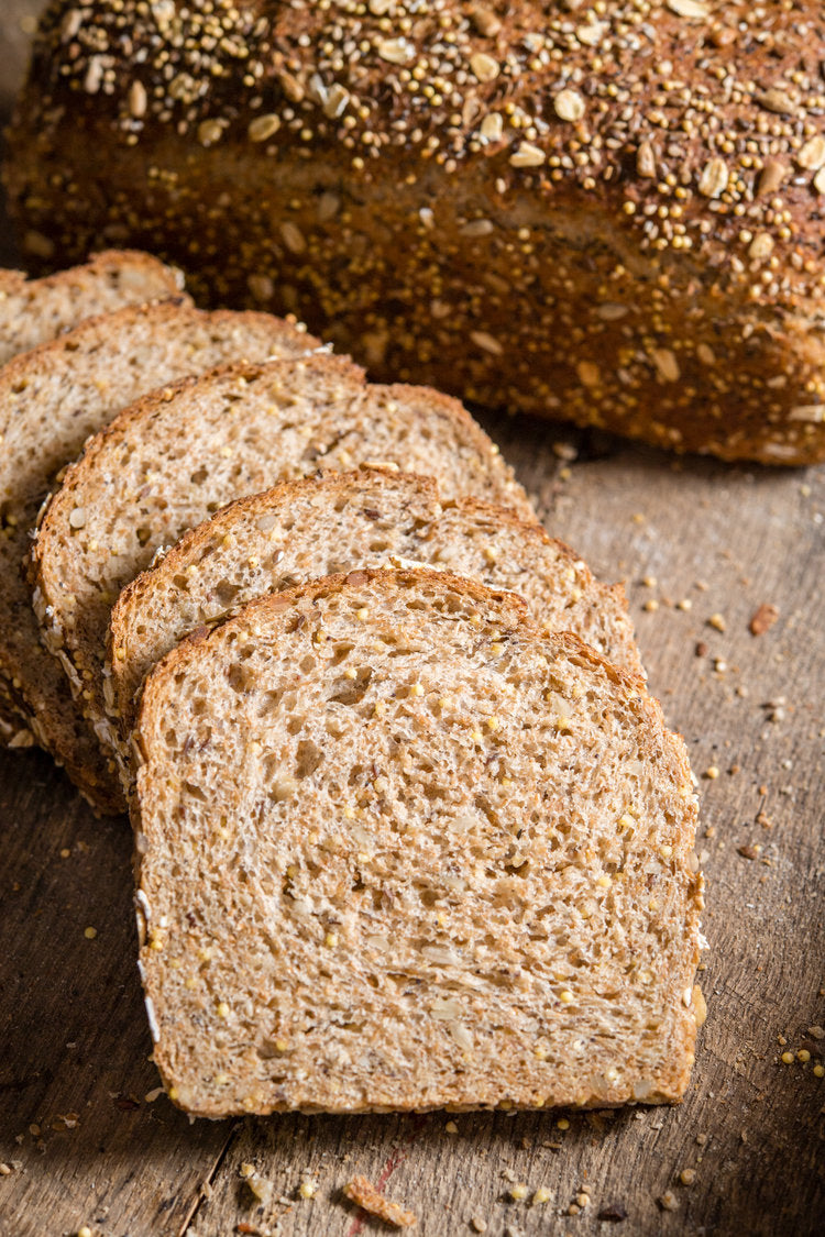 Bakery - Pan Loaf Sliced Artisan Bread, Sourdough & Multigrain, Freshly Baked