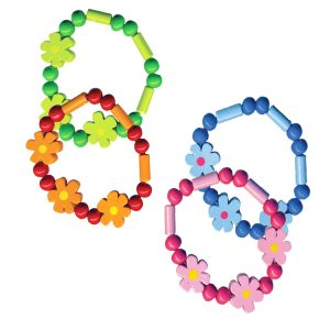 Kids Wooden Bracelets & Rings - Pocket Money Classic Collection, Pocket Money, House of Marbles - LIESAS