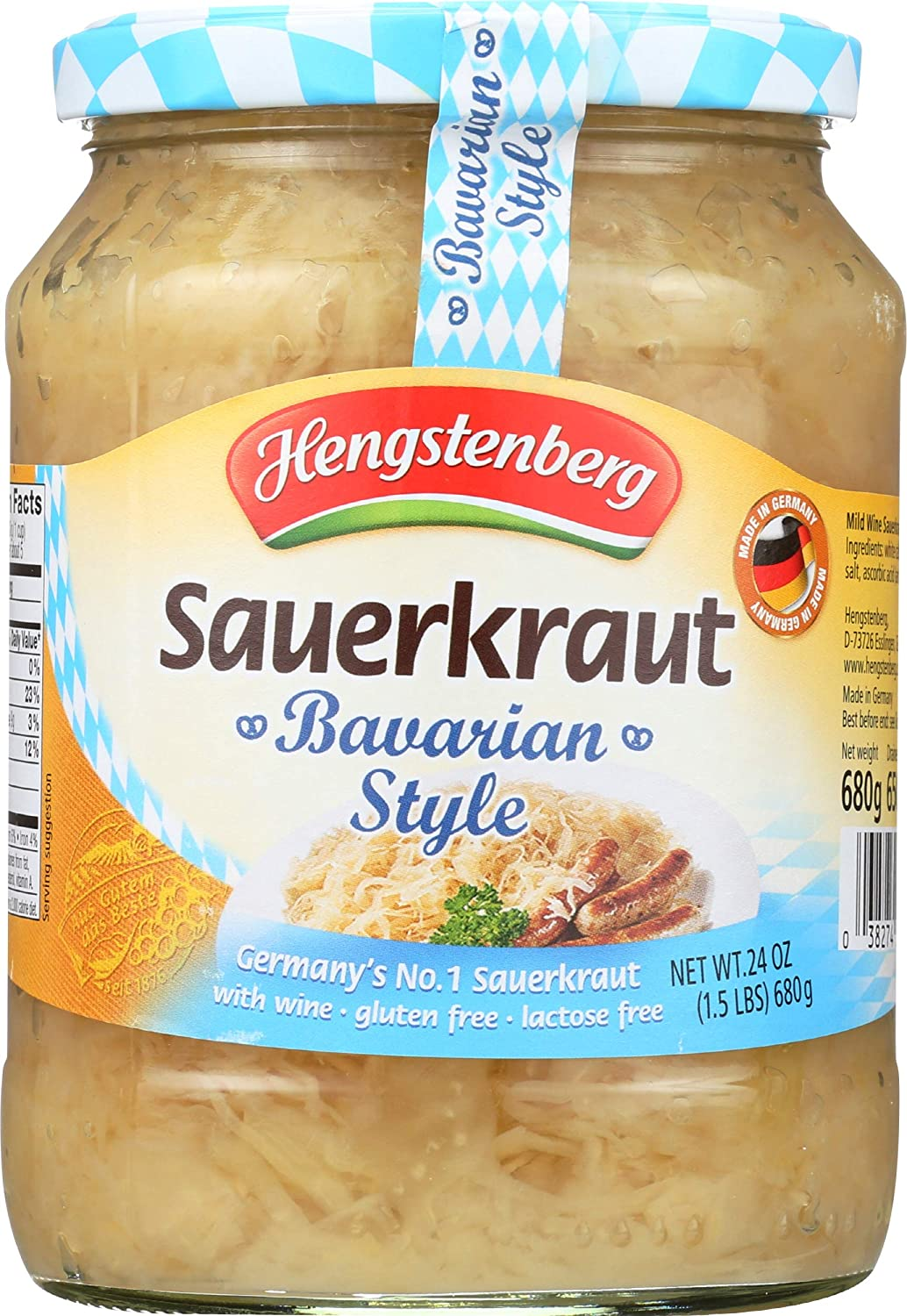 Vegetables Condiments - Hengstenberg German Wine Sauerkraut Bavarian Style