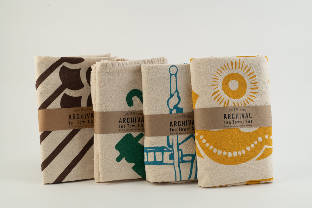 Archival Tea Towel Set- Los Poblanos, towels, Los Poblanos - LIESAS
