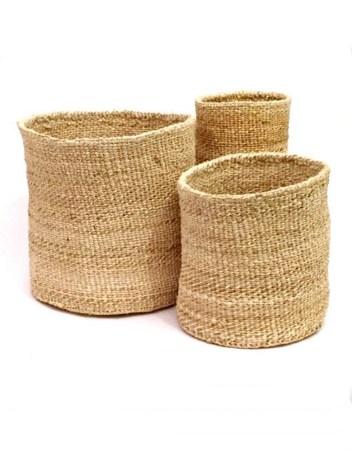 African Basket Collection by Bamboula - Sisal, basket, Bamboula - LIESAS