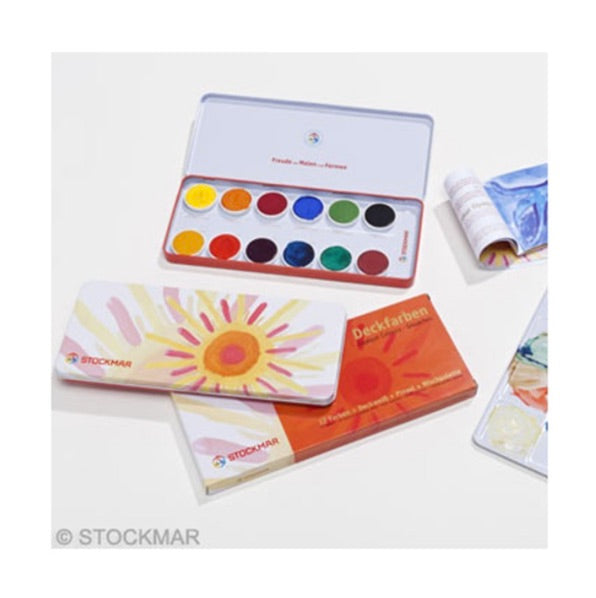 Stockmar Opaque Colours Box Set - 12 Colours & Refill Colours, Kinder Art, mercurius - LIESAS