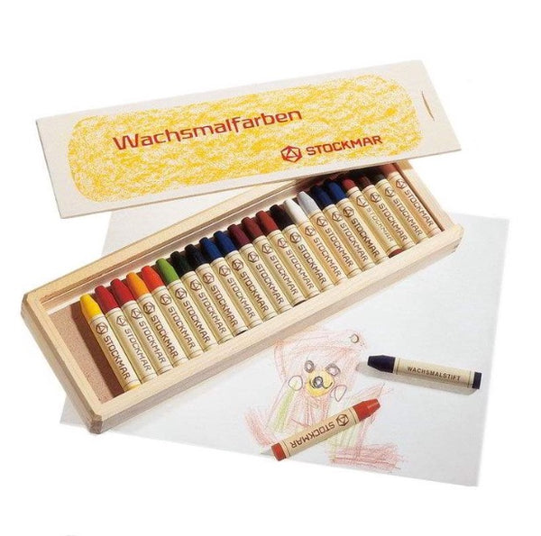 Stockmar Wax Stick Crayons - 16 assorted