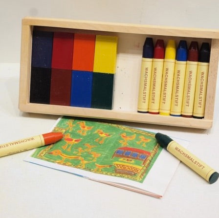 Stockmar Wax Crayons Combo - 8 block/8 stick